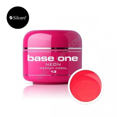 Base One Neon - 13 - Base One Neon Gel Medium Coral