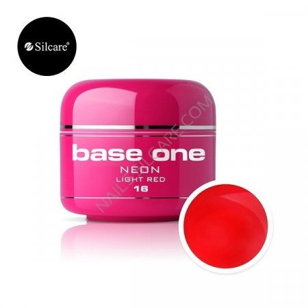 Base One Neon - 16 - Base One Neon Gel Light Red