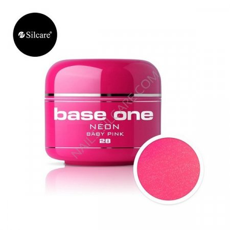 Base One Neon - 28 - Base One Neon Gel Baby Pink