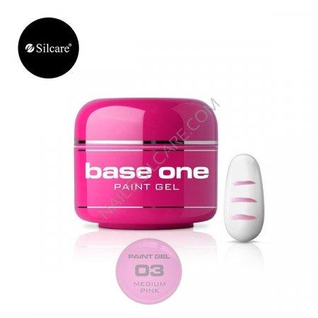Base One Paint Gel - 03 - Base One Paint Gel Medium Pink