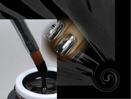 Gel color LED / UV FOIL - 5 ml - Black Foil