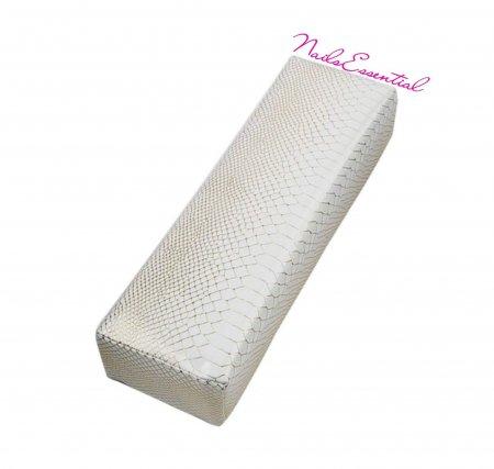 Cuscino Poggiamano in ecopelle - Bianco Oro
