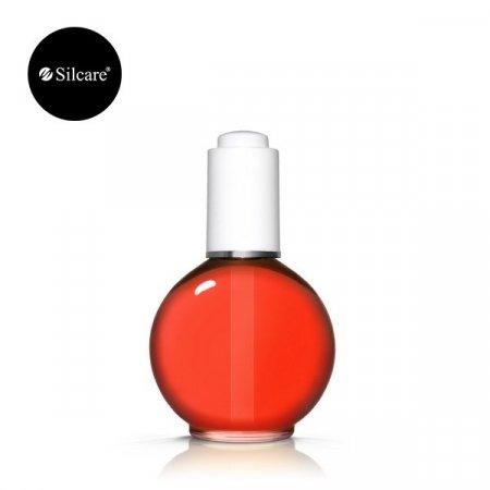 Silcare Nail & Cuticle Oil 75ml - Strawberry Crimson