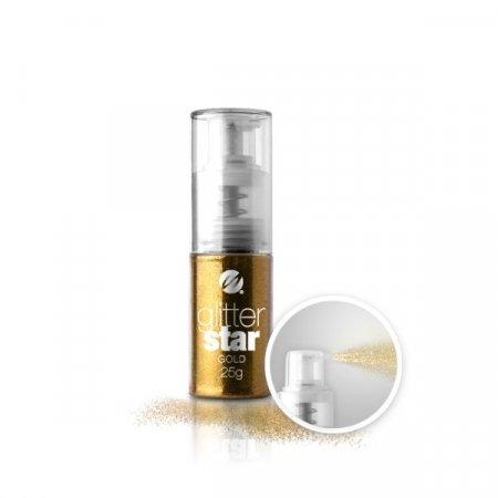 Glitter Star con dosatore Spray - 25g - Gold