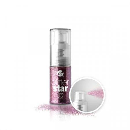 Glitter Star con dosatore Spray - 25g - Pink