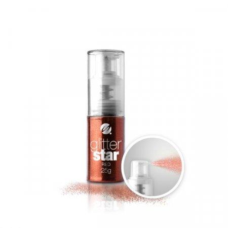 Glitter Star con dosatore Spray - 25g - Red
