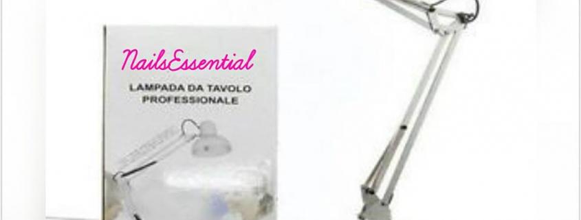 LAMPADA DA TAVOLO PROFESSIONALE CON CLIP